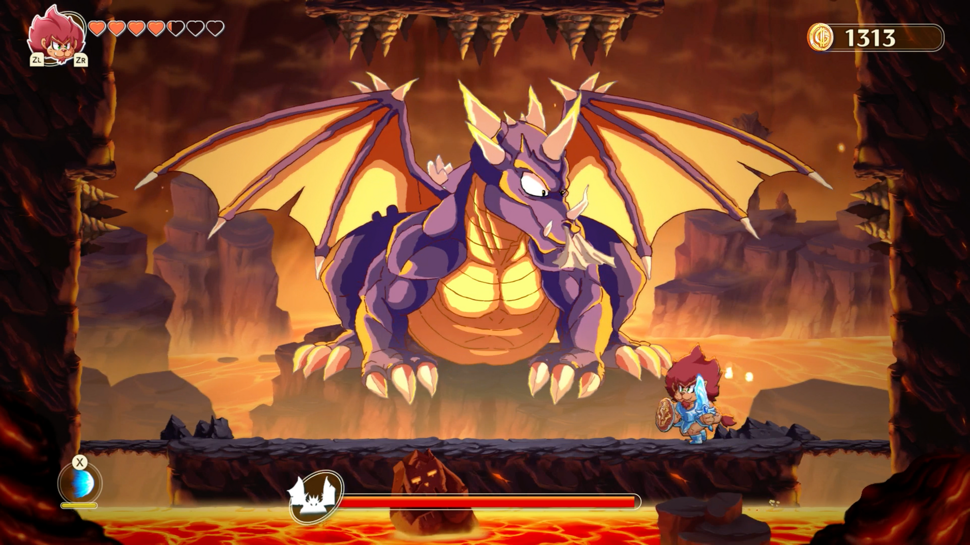 Monster Boy and the Cursed Kingdom - Voldrake Boss Fight Guide