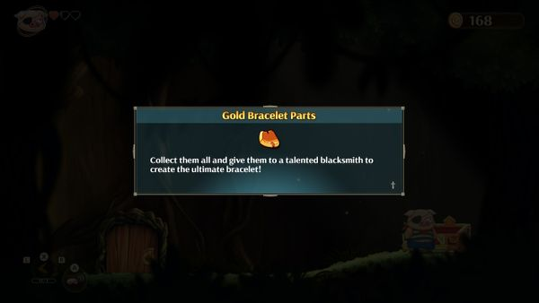 Monster Boy and the Cursed Kingdom - Gold Bracelet Parts Guide