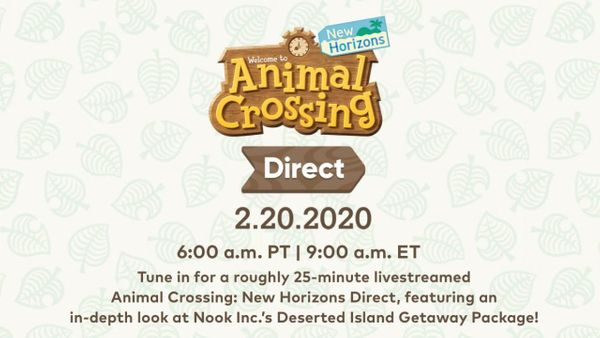 Animal Crossing Nintendo Direct Announced (Times in Link)