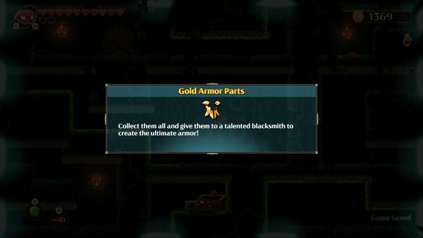 Monster Boy and the Cursed Kingdom - Gold Armor Parts