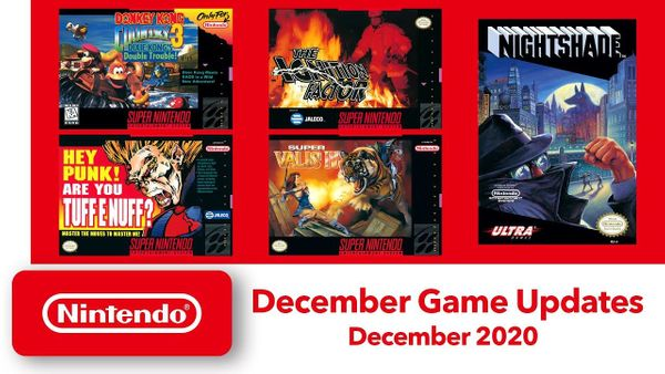 December Nintendo Switch Online Games Announced