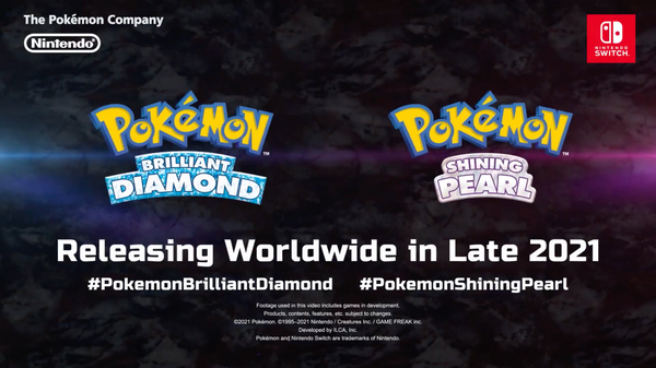 Pokemon Brilliant Diamond and Pokemon Shining Pearl Coming in Late 2021